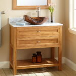 Charming Narrow Depth Bathroom Vanity