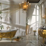 Classic Gold Bathtub Art
