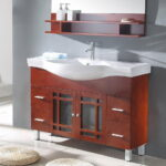 Contemporary Narrow Depth Bathroom Vanity