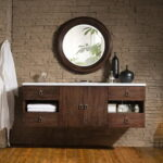 Country Single Floating Bathroom Vanity