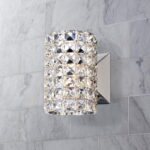 Crystal Cylinder Wall Sconce