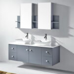 Double Sink Wall Mount Bathroom