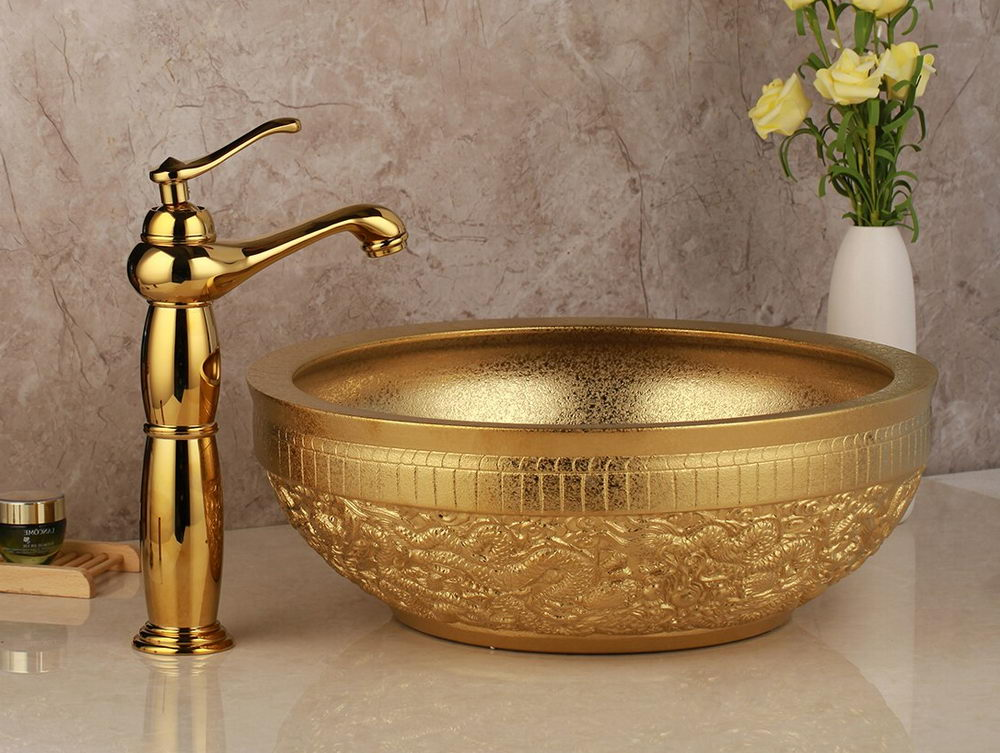 Golden Luxury Washbasin