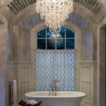 Luxury Bathroom Design with Chandeliers