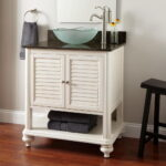 Narrow Depth Bathroom Vanity with Vessel Sink