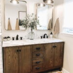 Popular Rustic Farmhouse Bathroom Vanity Design