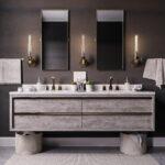 Simple Bathroom Floating Cabinet