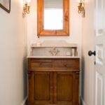 Unique Rustic Bathroom Storage