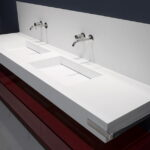 Wall Mounted Double Bathroom Vanity Set Floating